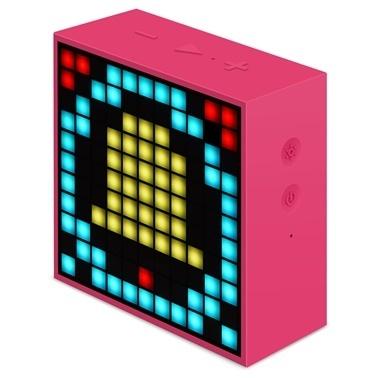 Divoom Divoom TimeBox Mini Pixel Art Smart Pembe Bluetooth Hoparlör Pembe